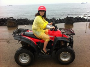 Hyo on the ATV