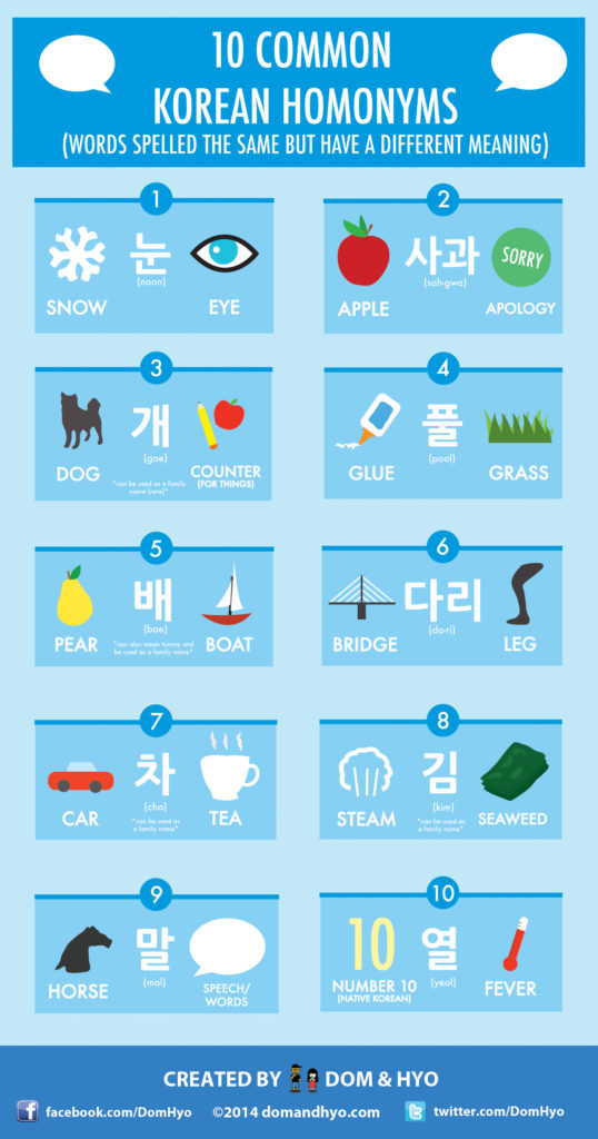 Korean Homonyms