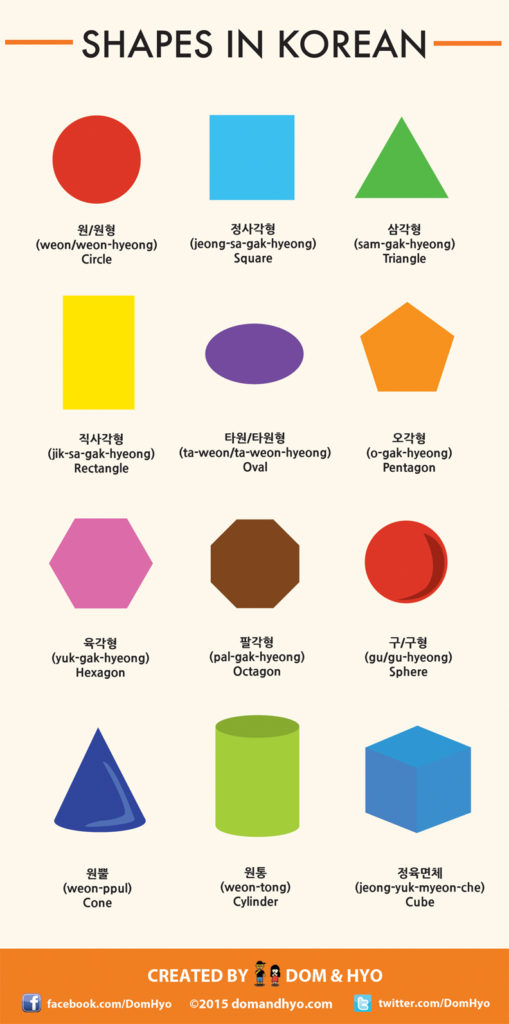 shapes in korean, korean shapes