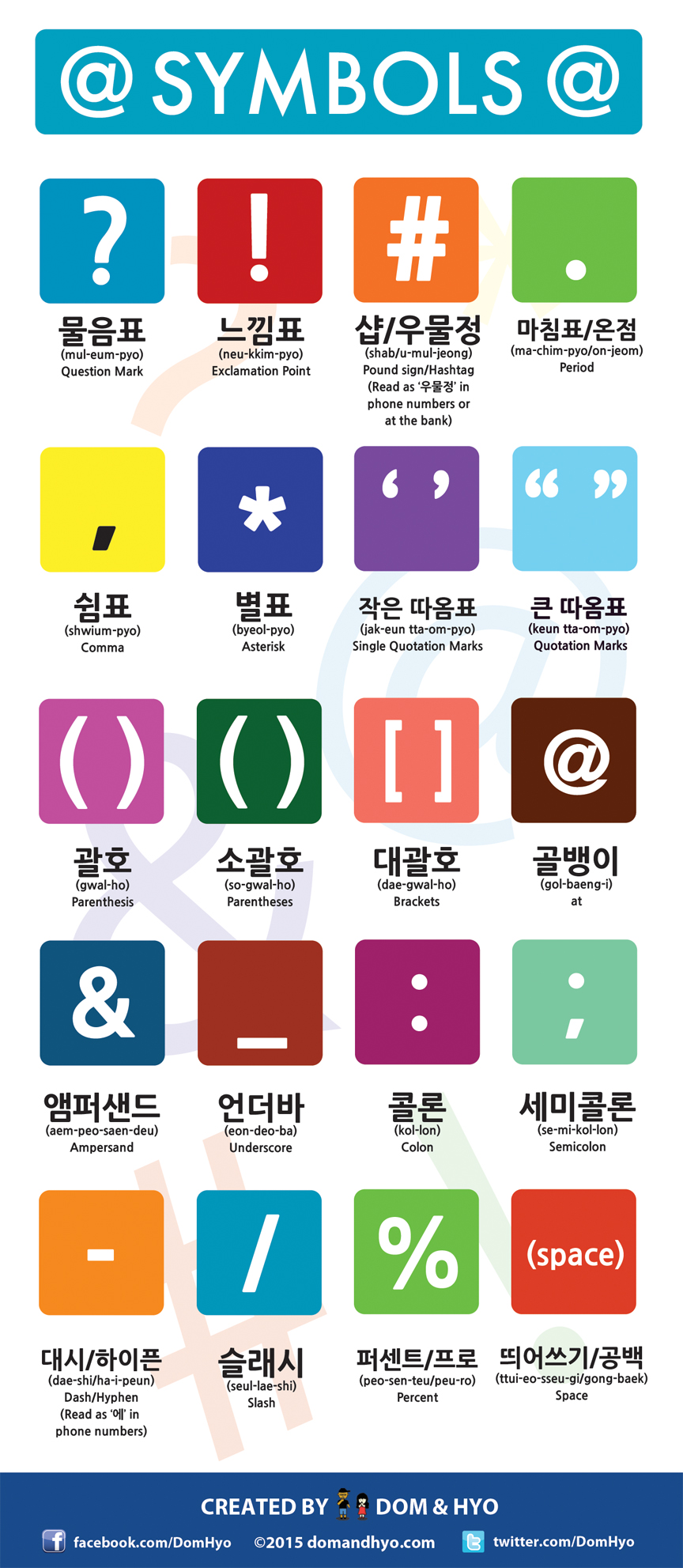 Symbols in Korean