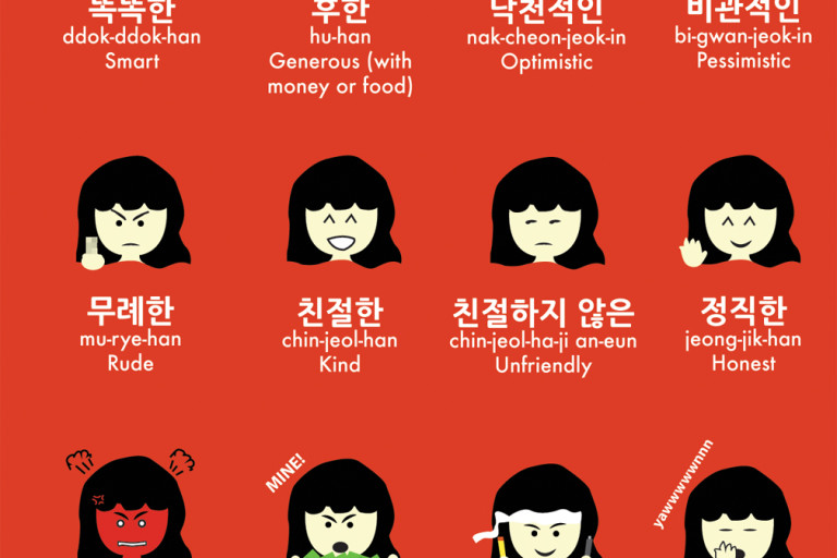 Korean Adjectives to Describe People: Character and Personality