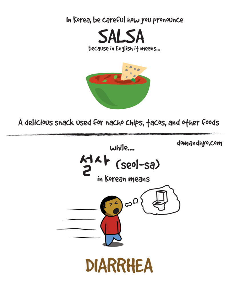 salsa in korean 설사