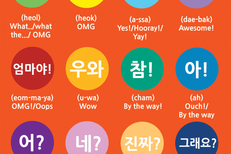 Vocabulary: Exclamations in Korean