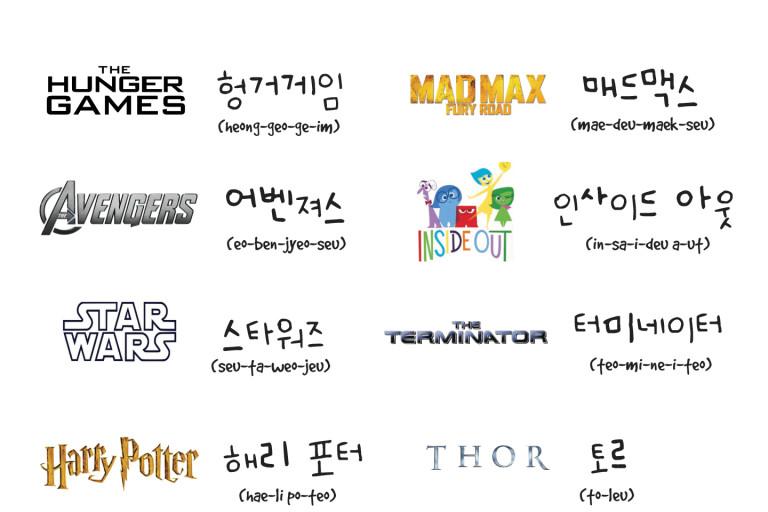 Movie Names in Korean
