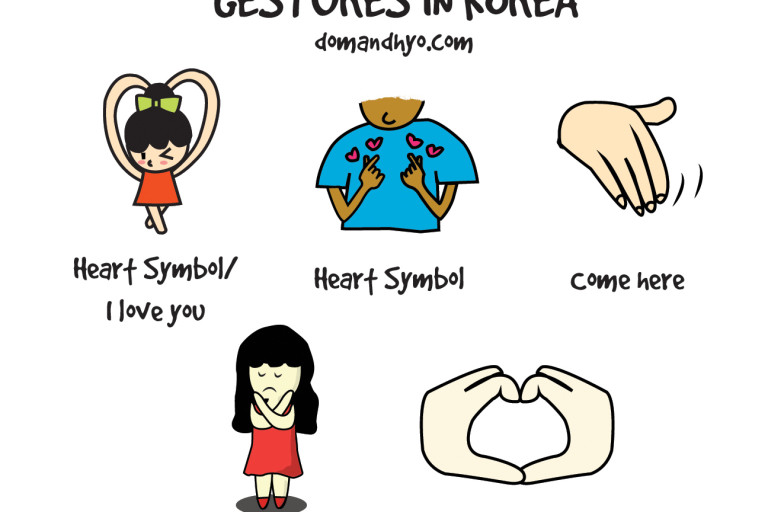 A few of the Common Hand Gestures in Korea
