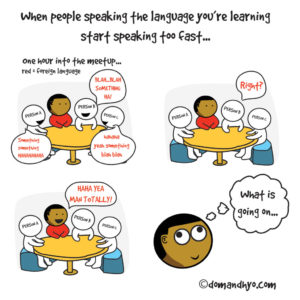 speaking a foreign language