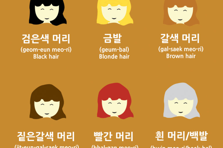 Vocabulary: Hair Colors (Natural) in Korean