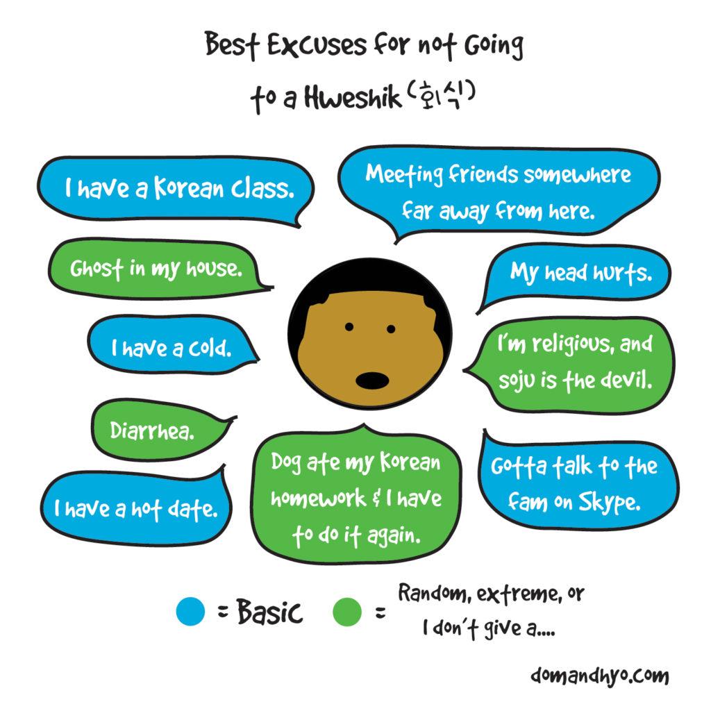 hweshik excuses, 회식