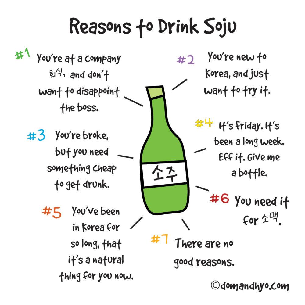 Reasons to Drink Soju…