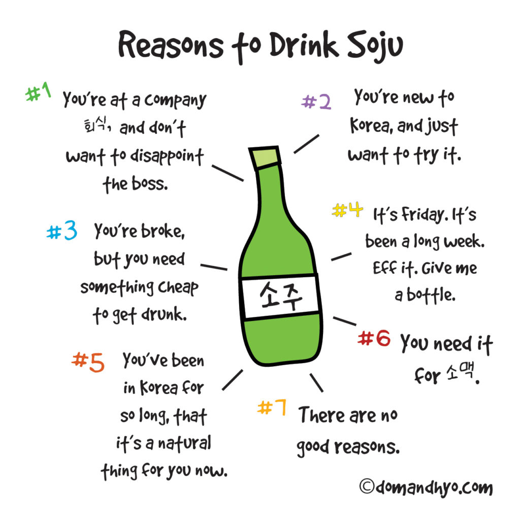 reasons to drink soju