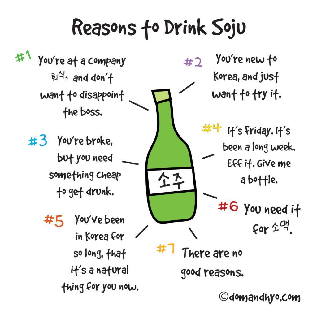 reasons to drink soju