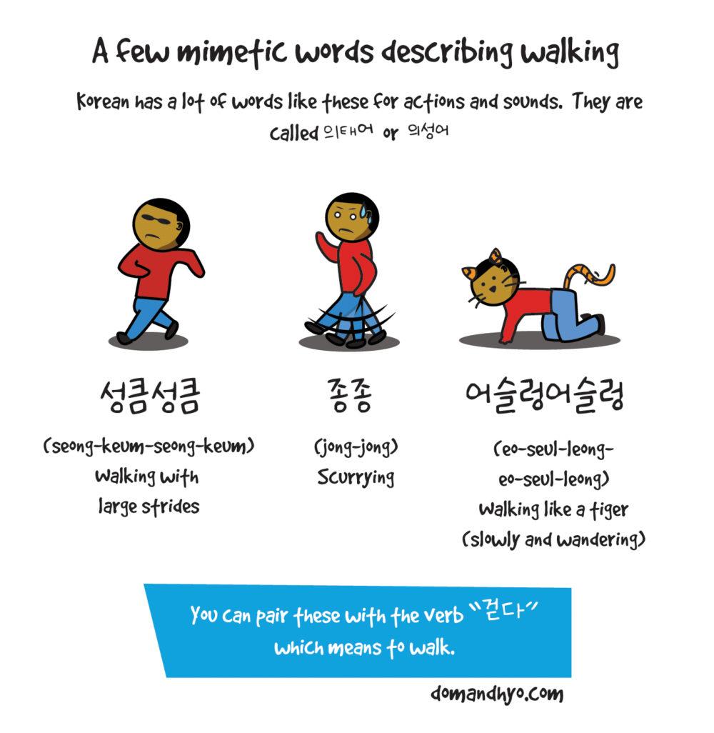 Mimetic Words in Korean: Walking (의태어)