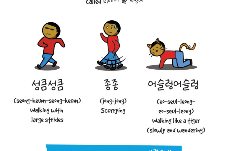Mimetic Words in Korean: Walking (의태어)