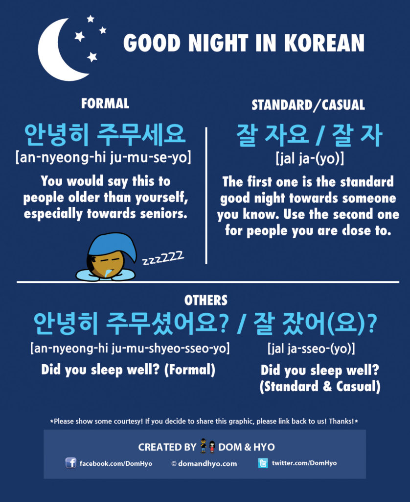 Good Morning My Dear In Korean Language : How to say good night in korean learn basic