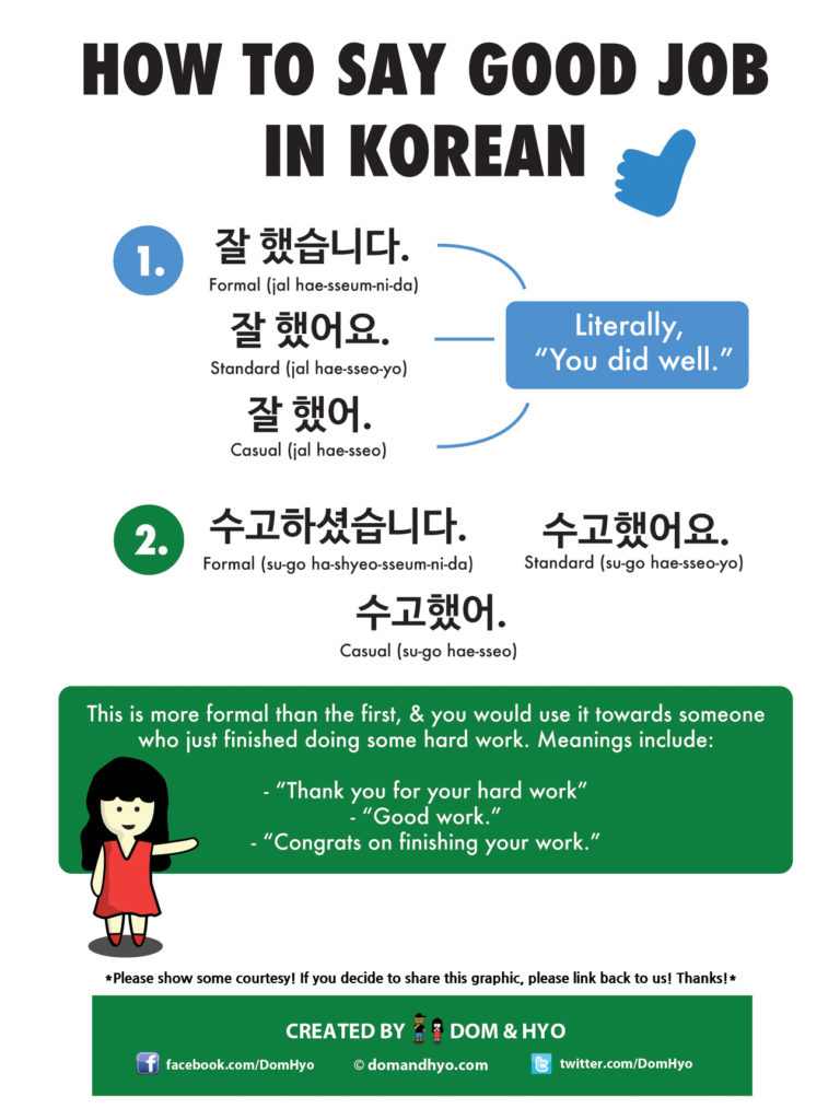How to Say Good Job in Korean