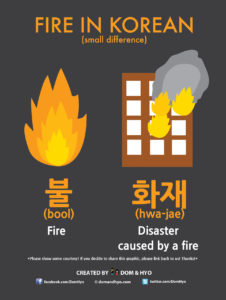 how to say fire in korean