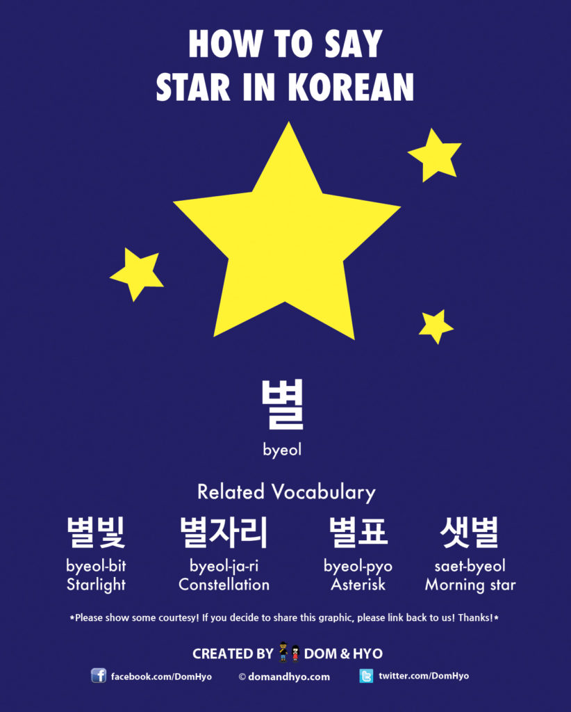 How to Say Star in Korean