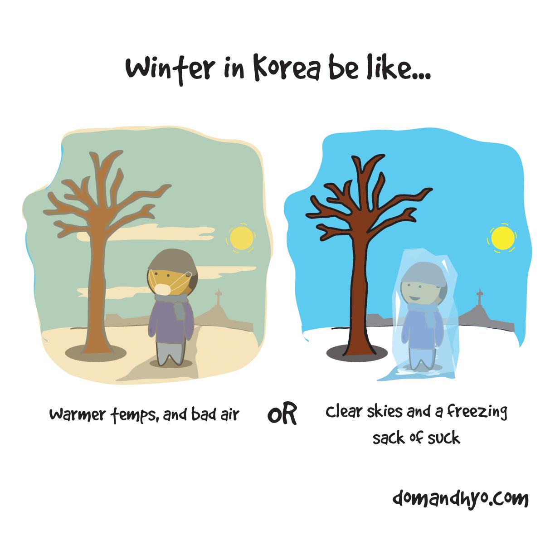 Winter in Korea be Like…