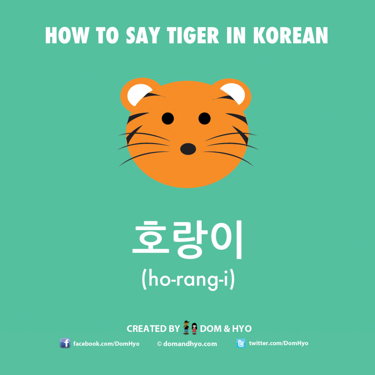 How to say tiger in Korean