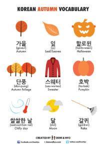 Autumn Vocabulary in Korean