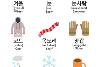 Winter Vocabulary in Korean