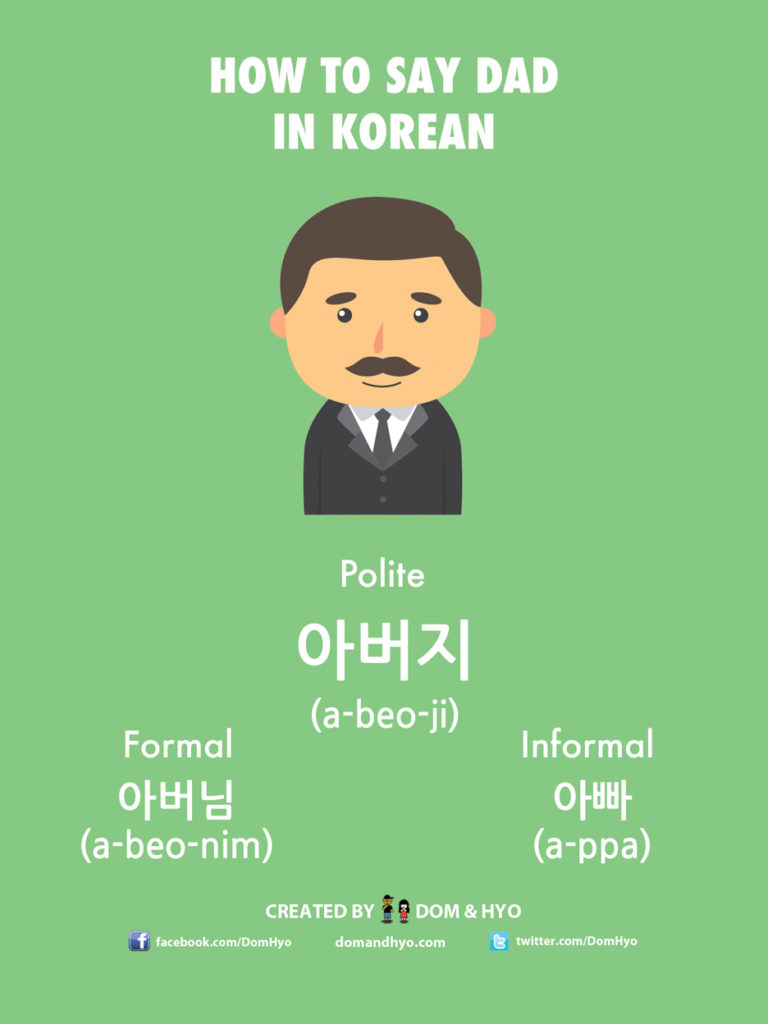 How to Say Dad in Korean