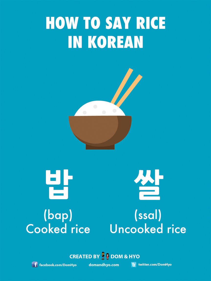 How to Say Rice in Korean