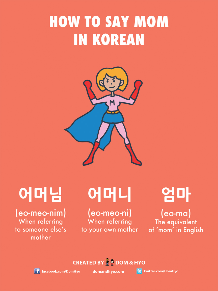 How to Say Mom in Korean