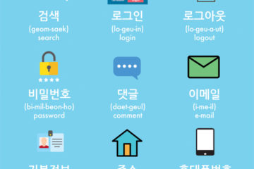 Website words in Korean