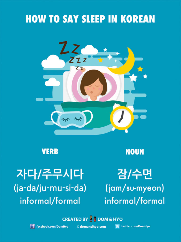How to Say Sleep in Korean