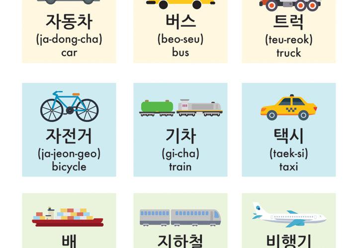 Transportation Words in Korean