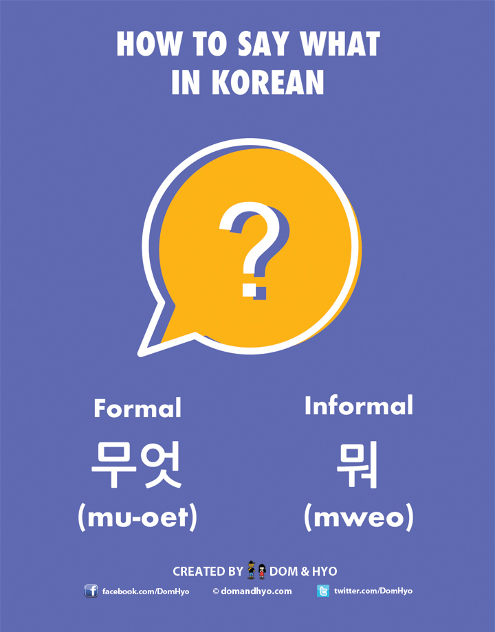 How to Say What in Korean