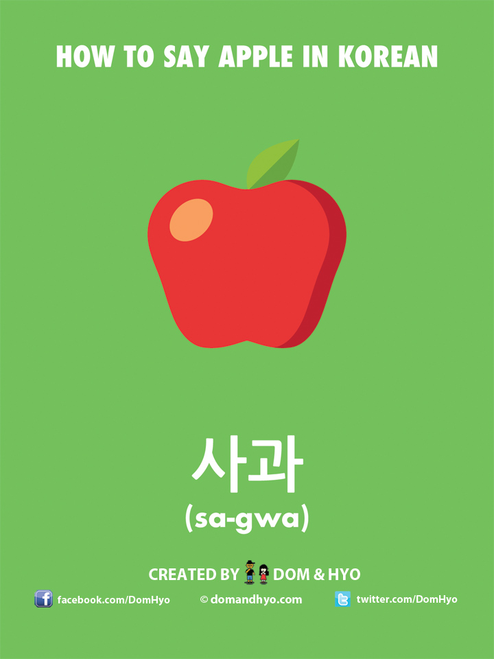 How to say apple in Korean