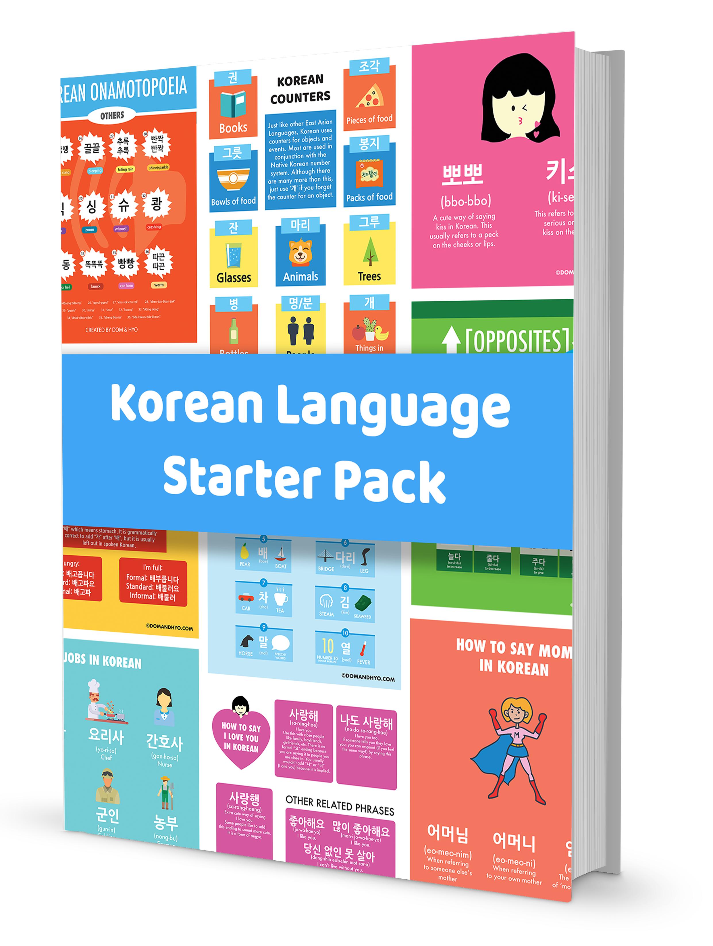 Korean Language Starter Pack
