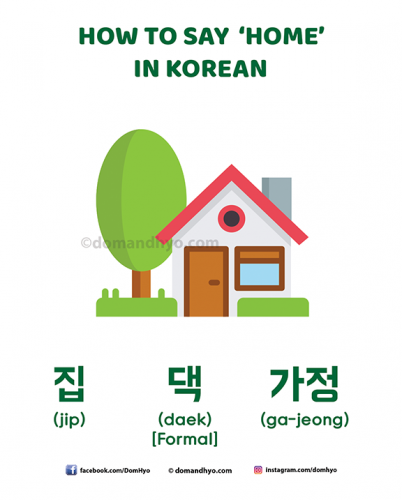 How to say home in Korean