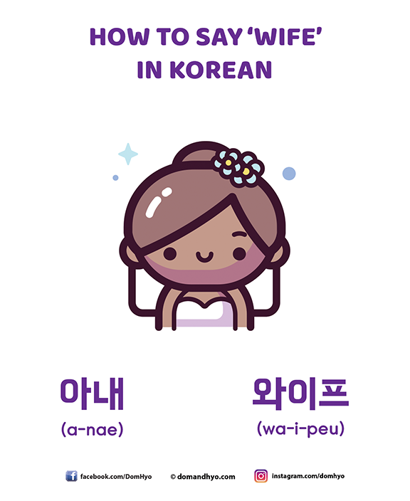 How to say 'wife' in Korean